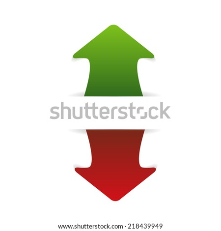 arrow  up and down - stock vector