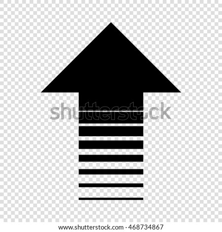 Arrow icon black on transparent background stock vector royalty arrow up icon black on transparent background altavistaventures Gallery