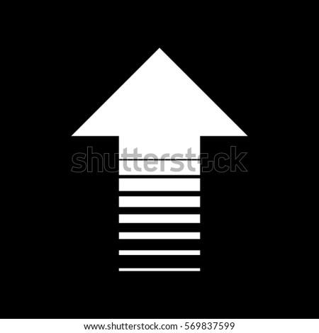 Arrow Icon Black On Transparent Background Stock Vector