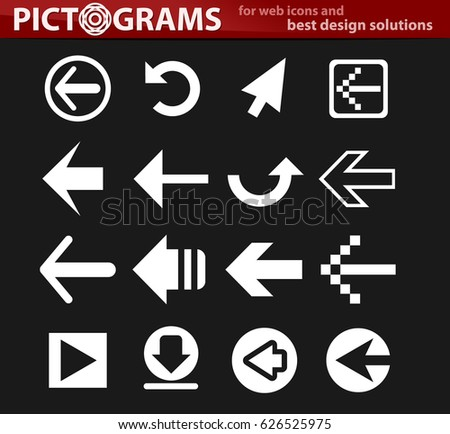 arrow vector icons for user interface design