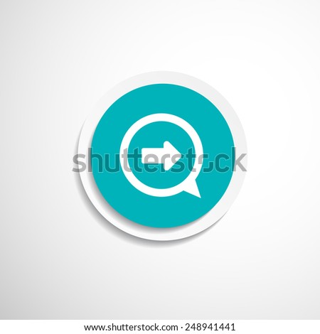arrow website next pointer cursor navigation right icon - stock vector