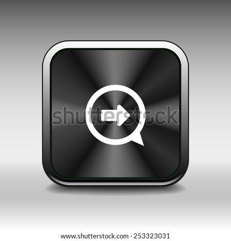 arrow website next pointer cursor navigation. right icon - stock vector