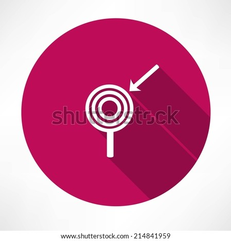 arrow with the target icon - stock vector
