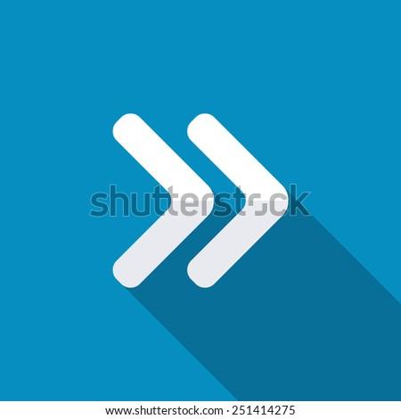 Arrowhead right icon - stock vector
