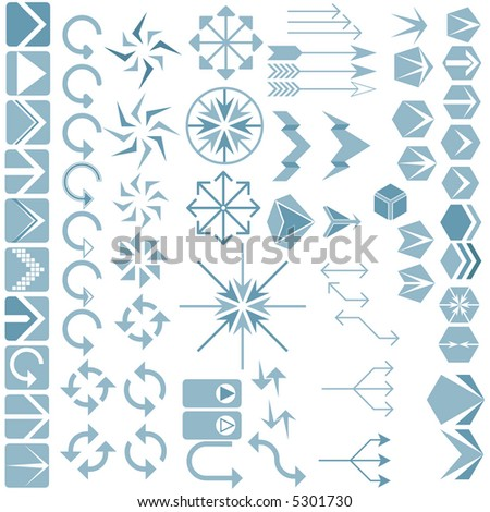 Arrows 2 - stock vector