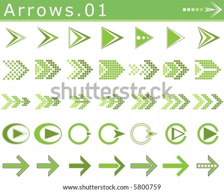 Arrows.01 - stock vector