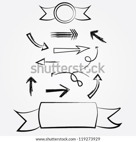 Arrows and blank for text,Vector - stock vector