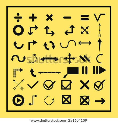 arrows and symbols collection set - stock vector