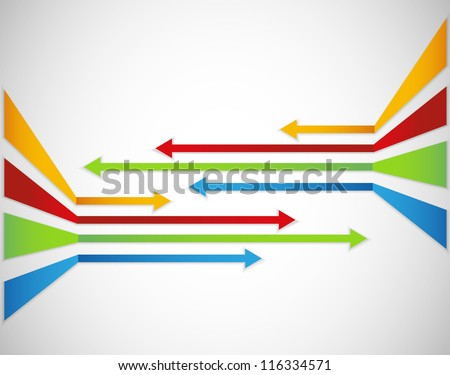 Arrows background - stock vector