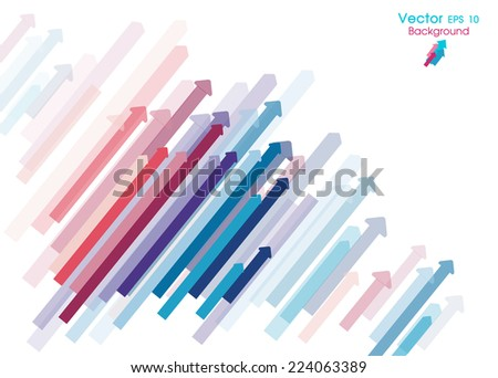 arrows background - Abstract graphic design background template, oblique arrows - stock vector