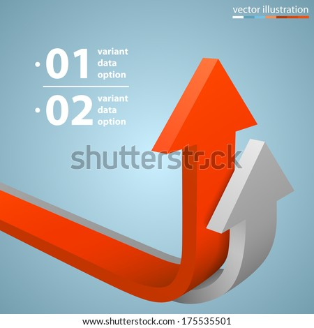 Arrows business growth, template design element, Vector illustration - stock vector