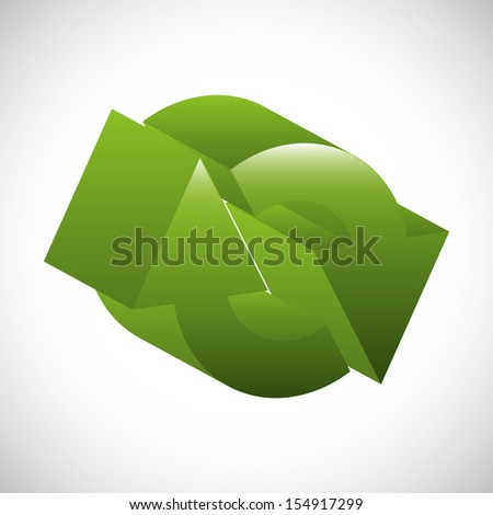 arrows design over gray background vector illustration - stock vector