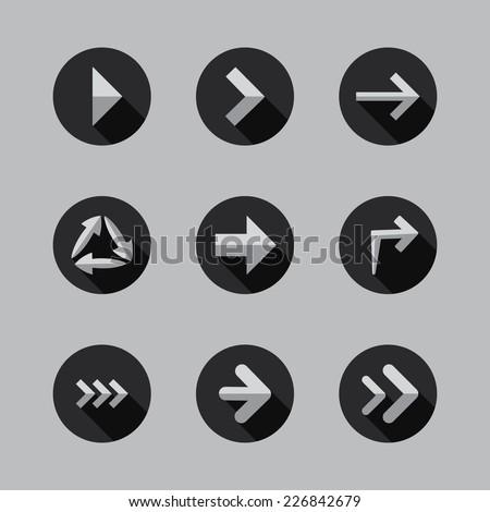 Arrows - Flat Icon Designs - stock vector
