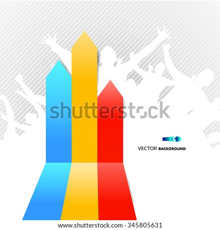 Arrows for graphics - stock vector