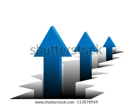 Arrows - growth concept. Vector abstract background.