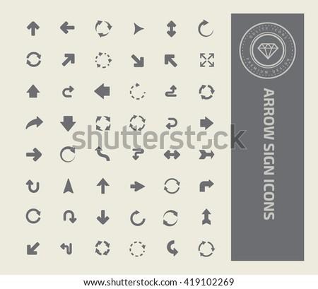 Arrows icon set,vector - stock vector