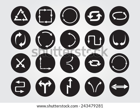 Arrows icon set.Vector illustration. - stock vector