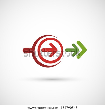 arrows icon vector - stock vector