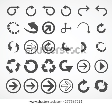 arrows icons (arrows icons set) - stock vector