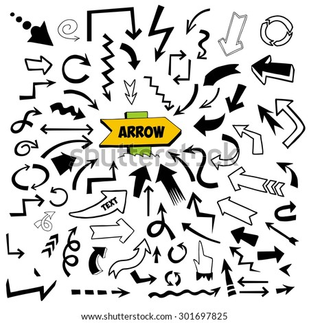 Arrows icons. Arrows icons set. - stock vector