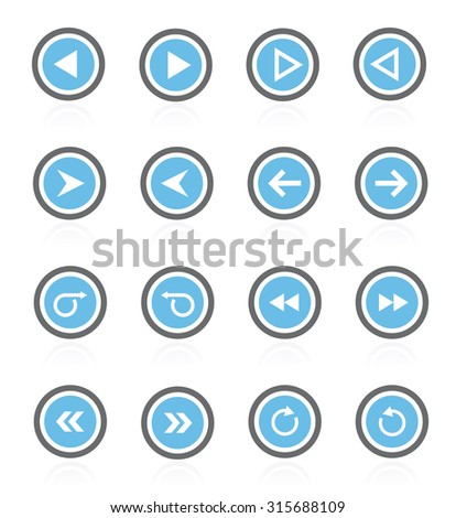 arrows icons (arrows icons set) easy to edit. - stock vector