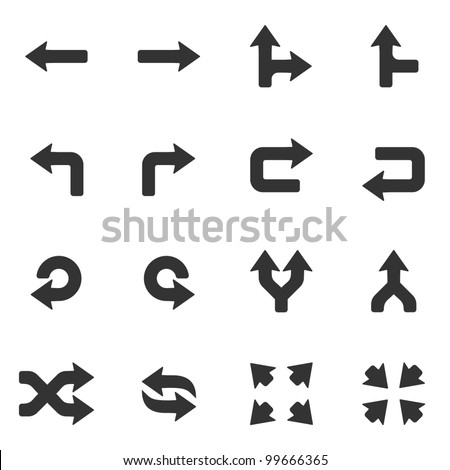 Arrows icons set. - stock vector