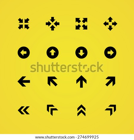 Arrows icons universal set for web and mobile - stock vector