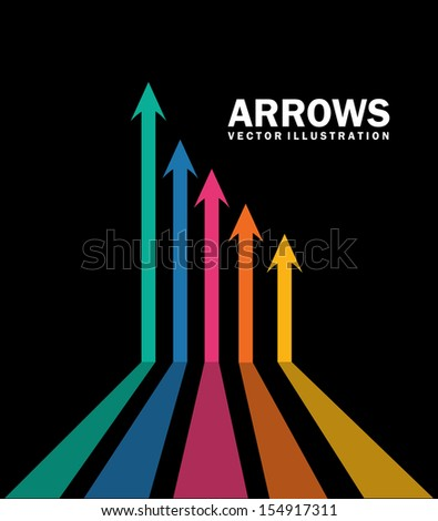 arrows infographics  over black background vector illustration