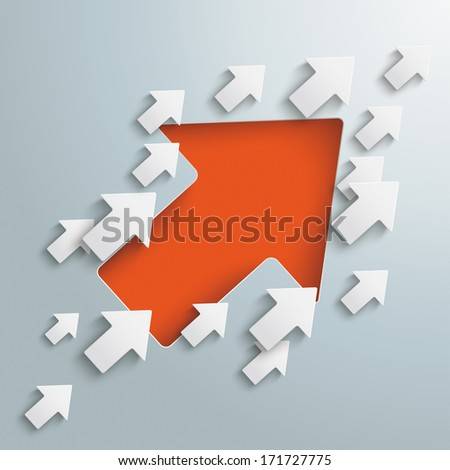 Arrows on the grey background. Eps 10 vector file. - stock vector