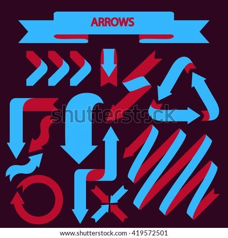 Arrows set - stock vector