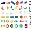 Arrows - Set - Isolated On White Background - Vector illustration, Graphic Design Editable For Your Design. Lot Of Useful Elements. Logo Symbols - stock vector