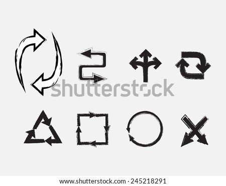 Arrows set.Vector arrows. - stock vector