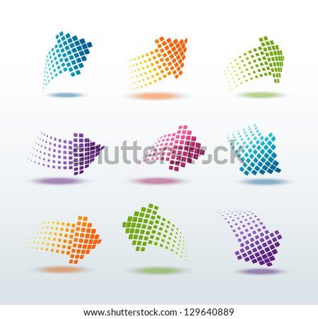 Arrows set vector illustration - stock vector