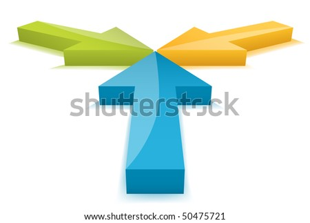 Arrows. Shadow created with gradient mesh - stock vector