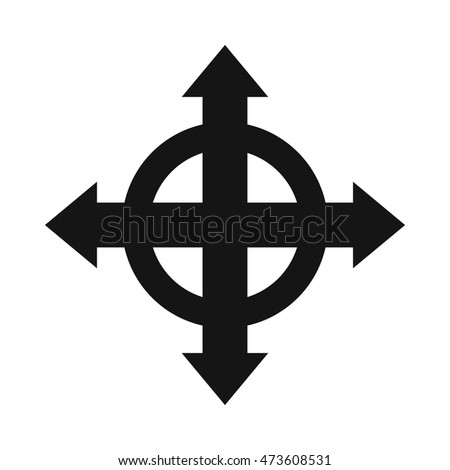 Arrows Target Icon Simple Style Isolated Stock Vector Royalty Free