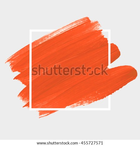 Art abstract background brush paint texture design acrylic stroke poster vector illustration. Perfect design for headline, logo and sale banner.