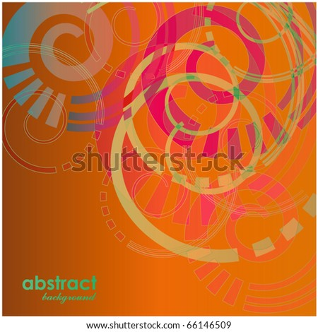 art abstract bright background in yellow, orange, green and red colors - stock vector