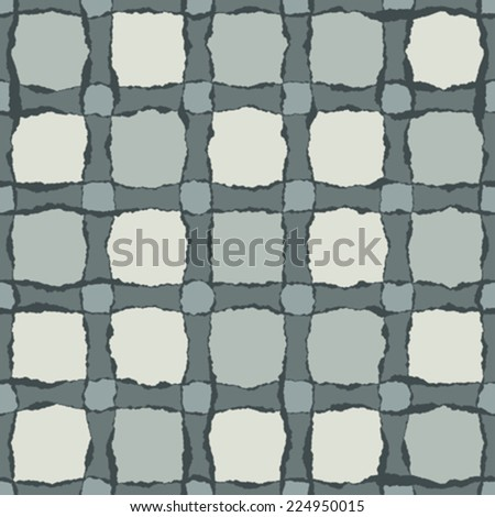 Art abstract check patchwork background. Seamless pattern. Vector. - stock vector