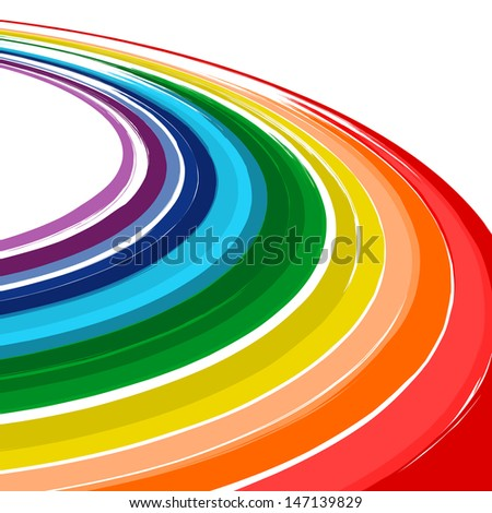 Art abstract rainbow color curved vector background 4 - stock vector