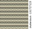 art abstract vintage seamless pattern with geometric mosaic, background - stock photo