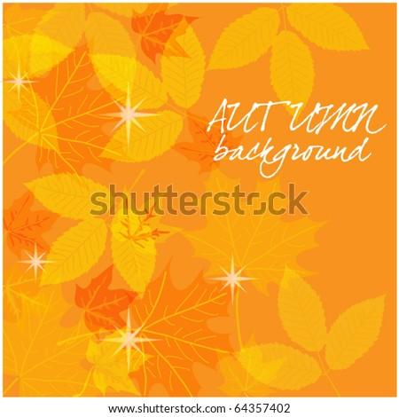 art autumn vintage background - stock vector