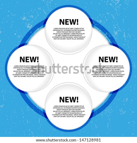 Art blue grunge schema. Place for your text or number  - stock vector