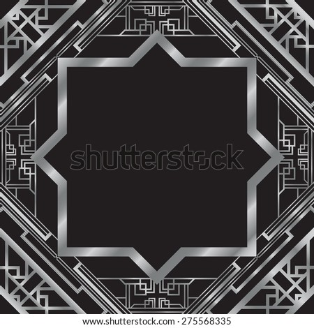 art deco abstract background - stock vector
