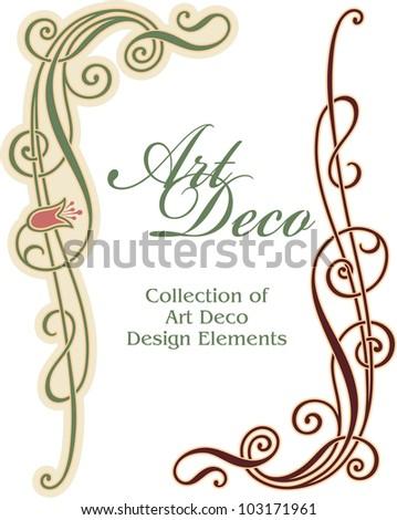 Art Deco Design Element - Corner - stock vector