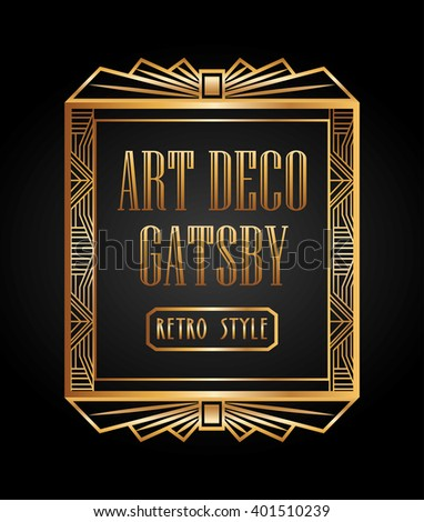 Gatsby border stock images royalty free images vectors for Element deco design