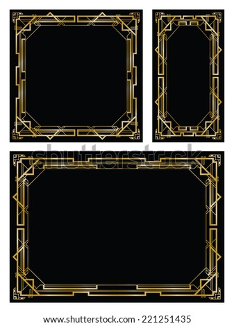art deco gatsby backgrounds - stock vector