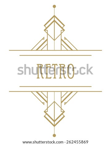 Art deco geometric pattern (1920's style)  - stock vector