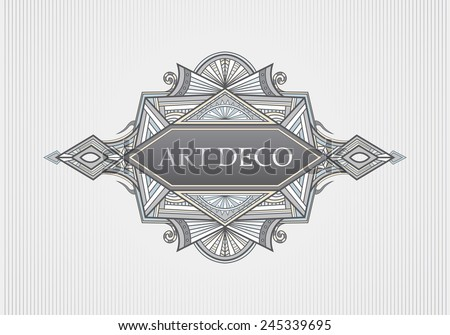 Art Deco Menu, Title Cover Page, Frame (Vector Art) - stock vector
