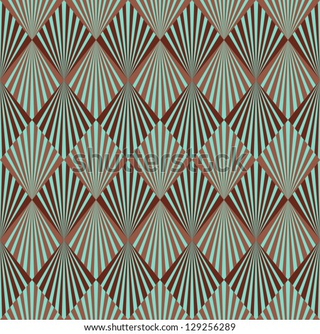 Art Deco style seamless pattern texture - stock vector