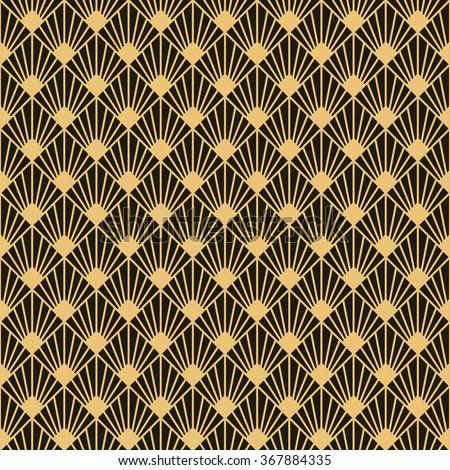 Art Deco style seamless pattern texture. - stock vector